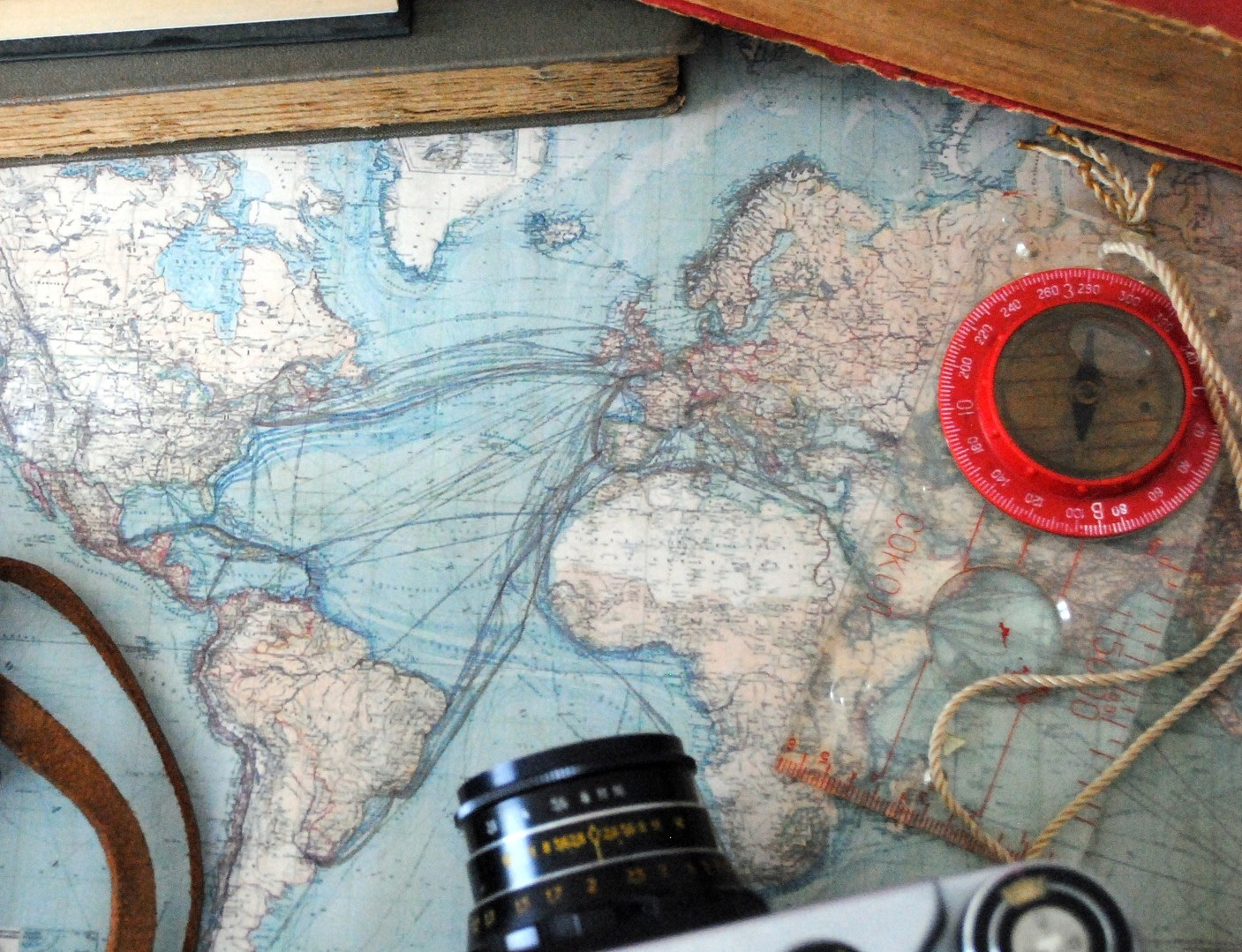 """Map, camera and compass"""